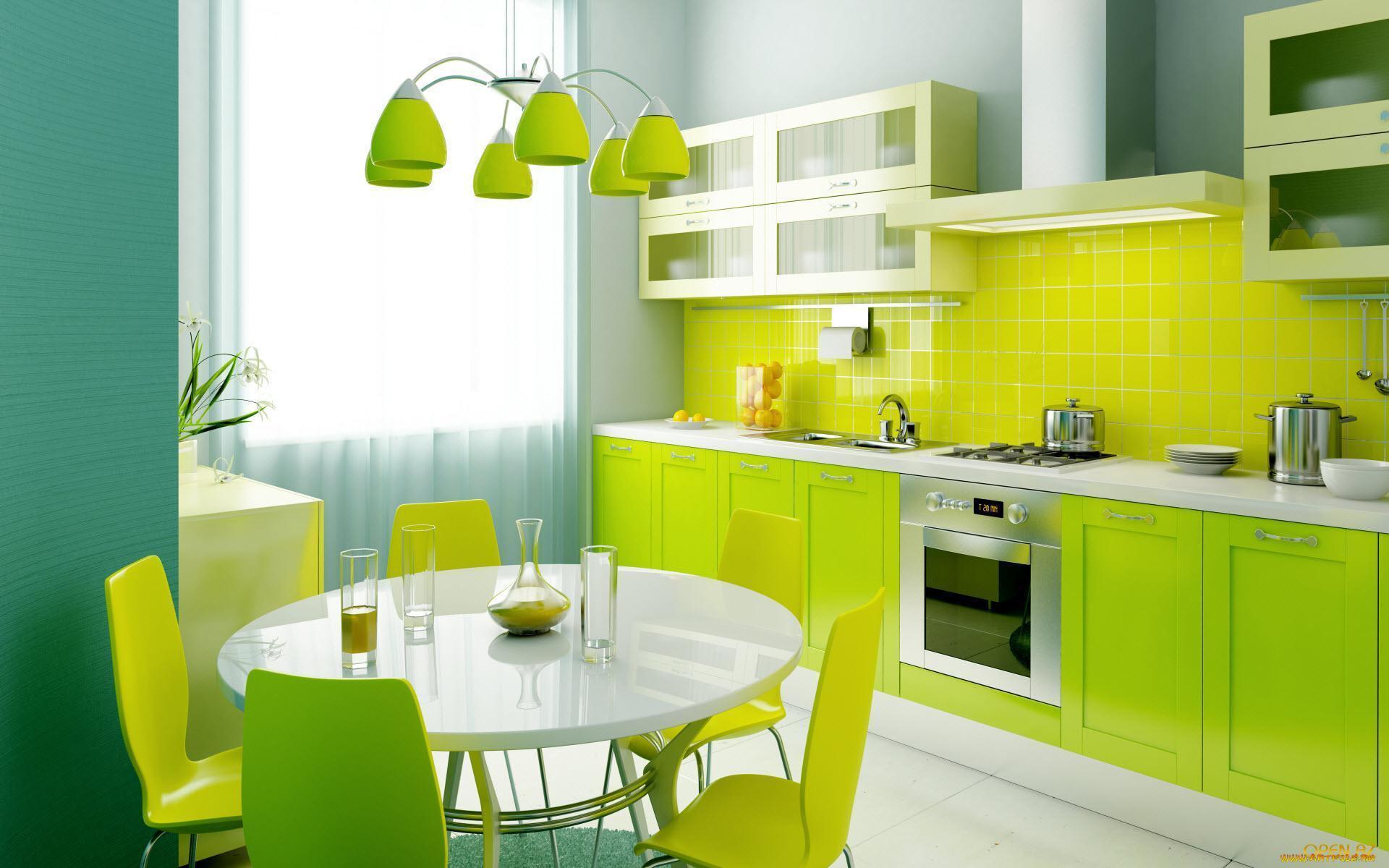 согласно этому картинки дизайн кухни в зеленом цвете суть выполнение